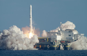 Sea Launch lofts rockets from a floating platform in the Pacific Ocean. Credit: Sea Launch