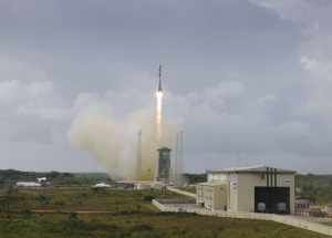 July 10, 2014, Europeanized Soyuz launch of four O3b Networks satellites. Credit: Arianespace