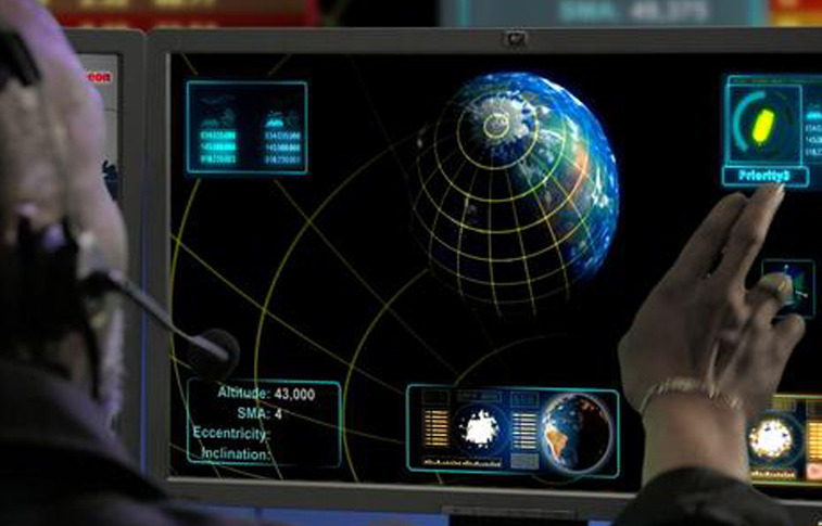 Rendering of part of Raytheon's Space Fence monitoring apparatus. Credit: Raytheon