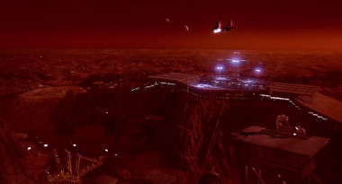 A scene from the 1990 movie Total Recall shows a mining facility on Mars. Credit: TriStar Pictures