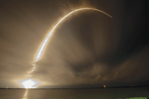 Falcon 9 launching AsiaSat 8 in January. Credit: SpaceX