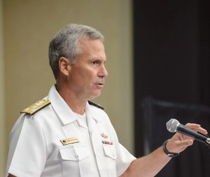 U.S. Navy Vice Adm. James Syring. Credit: SMD Symposium