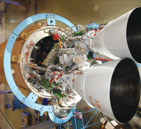 The Russian-designed and -built RD-180 rocket engine is key to the United States' interests in space. Credit: NASA