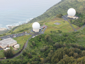 The Keana Point Satellite Tracking Station in Hawaii. Credit: U.S. Air Force