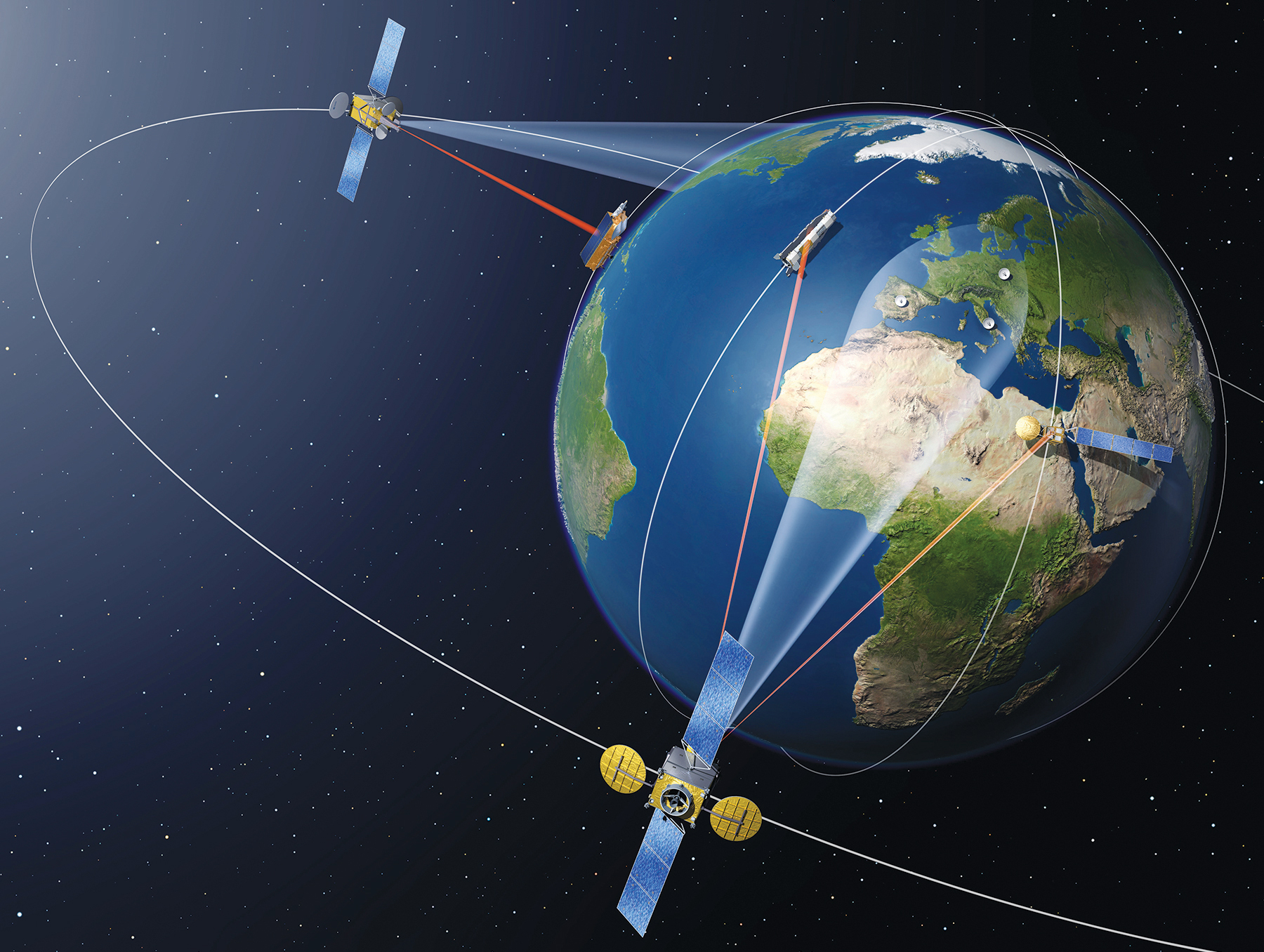 european datarelay satellite�s completion in doubt