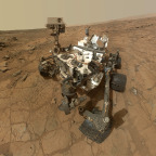 NASA's Mars Curiosity rover uses its mast cam to take a selfie. Credit: NASA