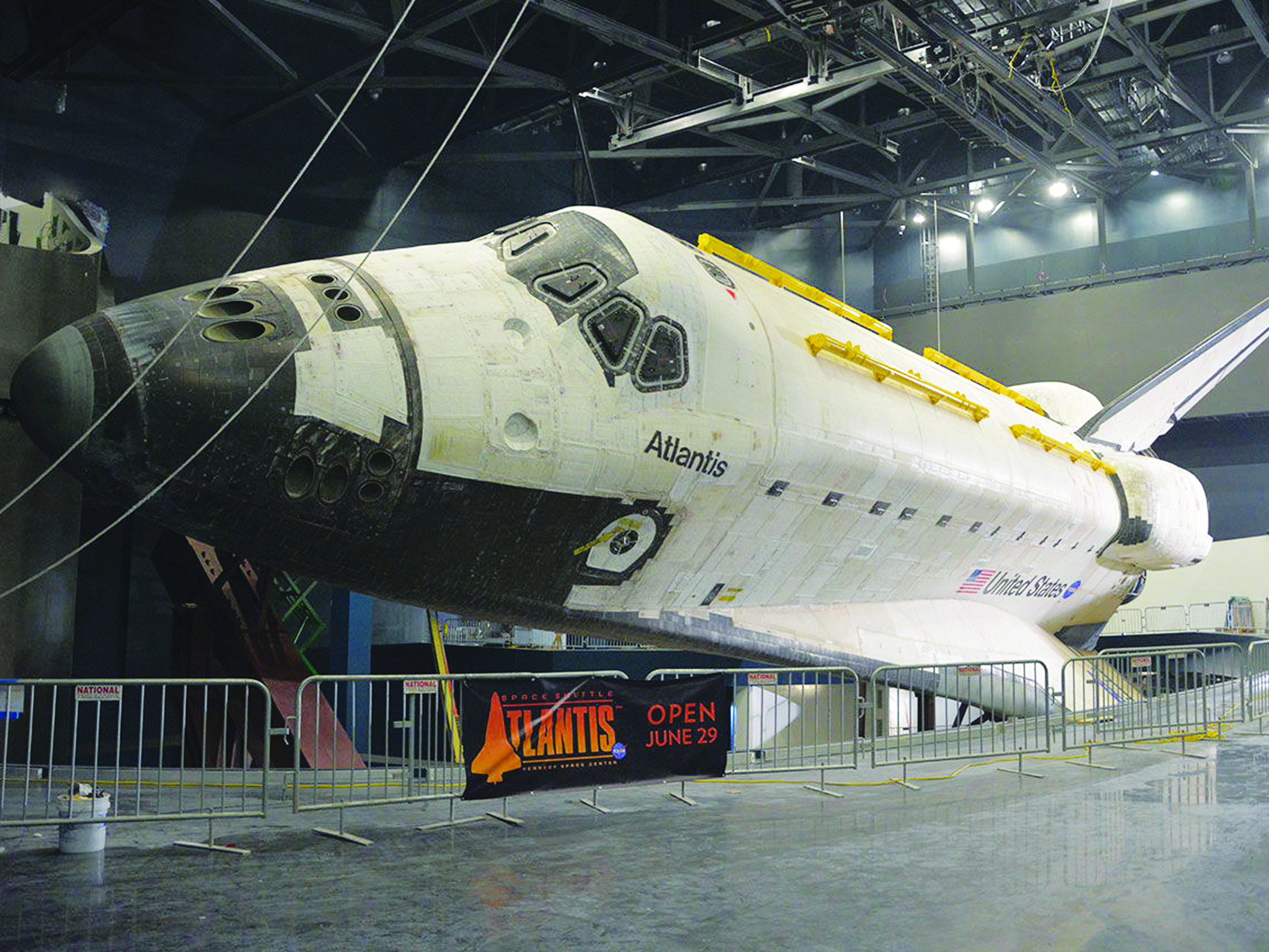 Space Shuttle Atlantis Fully Unwrapped for NASA Exhibit ...