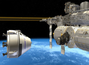 CST-100 approaching ISS