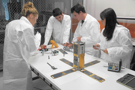 The University of Southern California (USC)'s Aeneas cubesat project. Credit: USC
