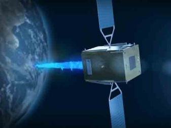 While the Galileo orbit-injection failure allowed EFS to ride a publicity wave, the principal mission of DeOrbiter is to extend the life of otherwise healthy satellites, mainly in geostationary orbit 36,000 kilometers over the equator, where commercial telecommunications satellites operate. Credit: Effective Space Solutions