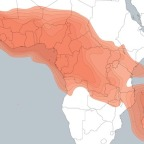Map of Eutelsat 16A's Ku-band Africa uplink coverage. Credit: Eutelsat