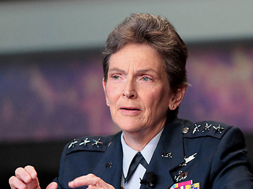 Lt. Gen. Ellen Pawlikowski, commander of the Air Force SMC, said in September the service now plans to award the LISC contract in the second quarter of 2014. Credit: SpaceNews