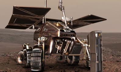 A concept of  the European Space Agency's ExoMars Rover. Credit: European Space Agency/AOES Medialab artist's concept