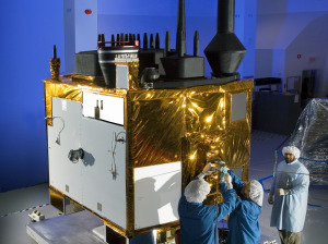 A software and security update by Lockheed Martin will improve the U.S. Air Force's GPS ground station used to communicate with the GPS 2F satellites, one of which is pictured above.