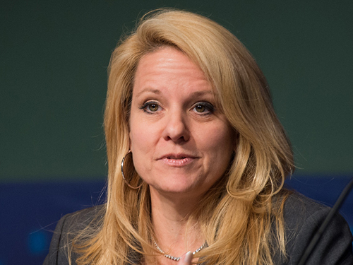 SpaceX President Gwynne Shotwell at a NASA panel discussion in 2013. Credit: NASA/Jay Westcott
