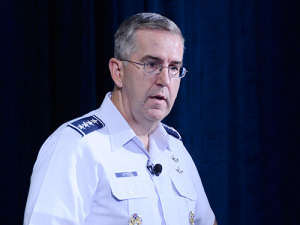 Gen. John Hyten, commander of Air Force Space Command said in 2013 — as vice commander — sequestration cuts forced the service to lay off about half of its space operations contractor workforce.  Credit: Xinia Productions/Jose Morales