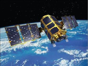 South Korea's geostationary-orbiting Geo-Kompsat 2A satellite. Credit: Korea Aerospace Research Institute artist's concept