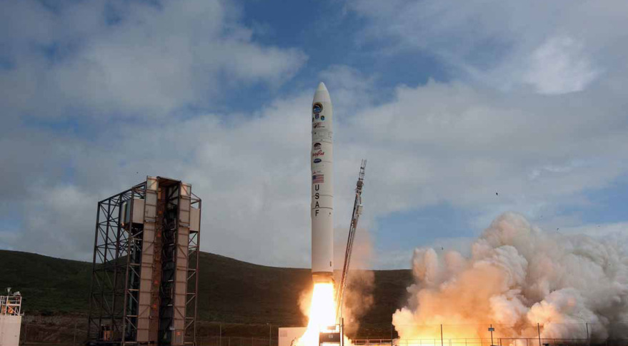 The U.S. Air Force will use a Minotaur 4 rocket (pictured above) from Orbital ATK to launch the ORS-5 satellite.