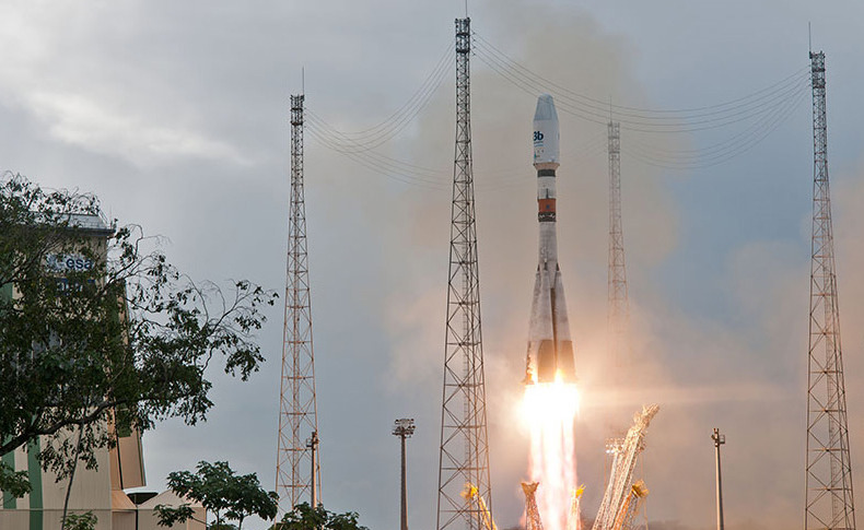 Second group of O3b satellites launch on a Europeanized Soyuz. Credit: Arianespace