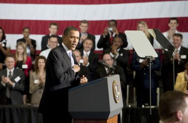 President Obama speaking at Kennedy Space Center in April 2013. Credit: NASA
