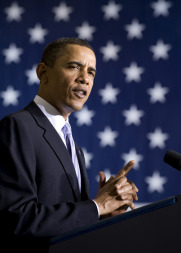 U.S. President Obama at Kennedy Space Center in April 2010. Credit: NASA