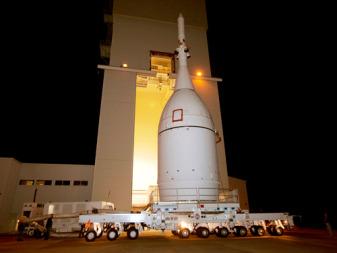 Orion prior to its EFT-1 test flight