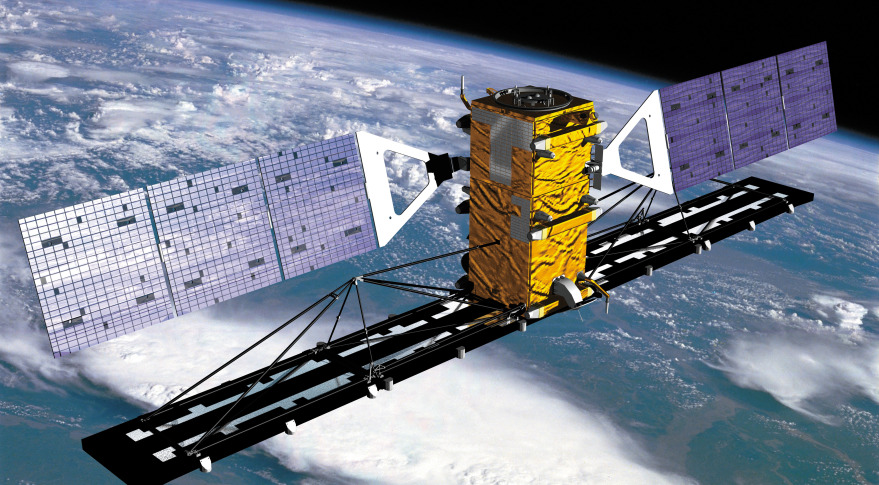 Radarsat 2. Credit: Canadian Space Agency artist's concept