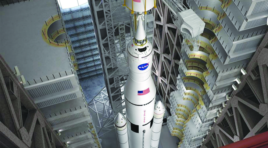 SLS and Orion. Credit: NASA artist's concept