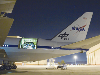 SOFIA is a 747SP aircraft equipped with a 2.5-meter infrared telescope. Credit: NASA