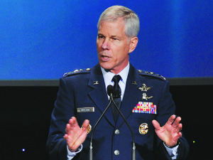 Gen. William Shelton said he expects a contract award for the Space Fence in April 2014. Credit: U.S. Air Force
