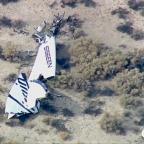 SpaceShipTwo wreckage. Credit: CNN/KABC