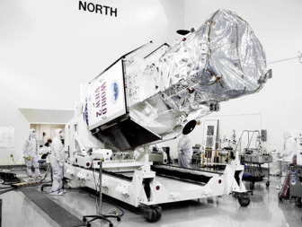 WorldView-2 prior to its 2009 launch.