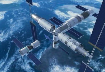 Artist's concept of Chinese space station.