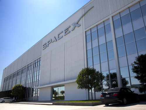 SpaceX headquarters.