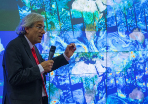 NASA's Michael Freilich presenting at the Group on Earth Observations meeting in Geneva in January 2014. Credit: U.S. Mission Geneva