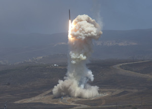 he Missile Defense Agency's Flight Test 06b Ground-Based Interceptor launches from Vandenberg Air Force Base, Calif. on June 22, 2014. Credit: MDA