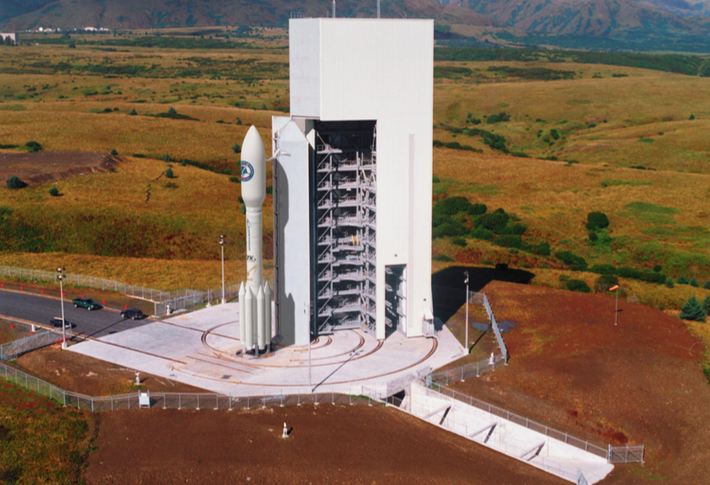 Rendering of Athena 2S rocket on the pad at Kodiak Launch Complex. Credit: Alaska Aerospace Corp.