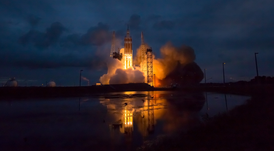 The Dec. 5 launch of an Orion spacecraft on a Delta 4 Heavy rocket was one of 15 launches that took place in December 2014, bringing the year's total to 92 launches worldwide. Credit: NASA