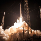AsiaSat 6 launches on a SpaceX Falcon 9 rocket. Credit: SpaceX