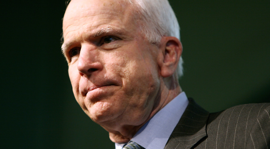 Sen. John McCain is pushing for the Pentagon to rely less on Russian-made launch engines.