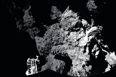 Image of ESA's Philae on the surface of Comet 67P. Credit: ESA