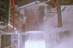 RD-180 test fire. Credit: NASA Marshall Space Flight Center photo