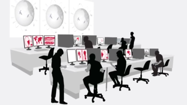 Raytheon is building the Operational Control System, or OCX, for the next-generation of GPS satellites. Credit: Screen capture from Raytheon OCX video