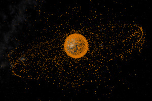 Space debris objects, which are not in scale, in Earth orbit. Credit: ESA/European Space Operations Centre