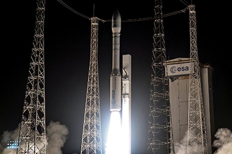 The Vega rocket lifting off for its inaugural launch in 2012. Credit: Arianespace