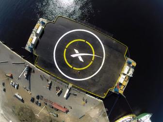 Floating landing pad. Credit: SpaceX