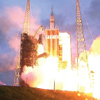 Orion launches on Delta 4 Heavy rocket. Credit: NASA