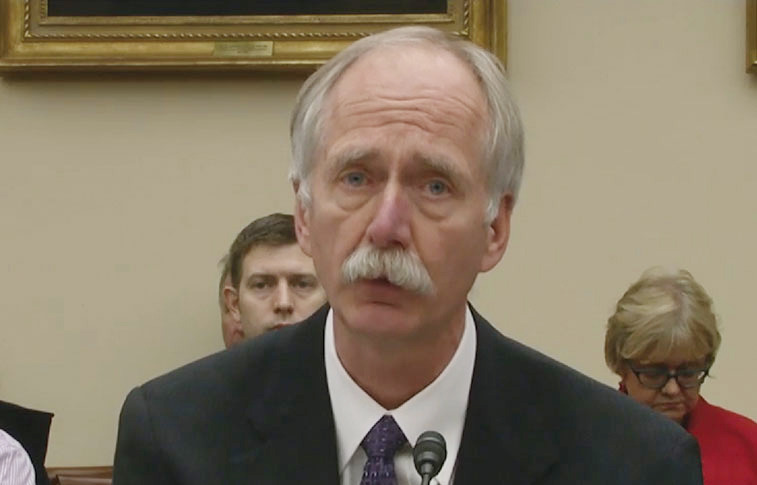 William Gerstenmaier, NASA association administrator for human exploration and operations.  Credit: House Science Committee webcast screenshot