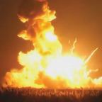 Antares rocket explodes on liftoff. Credit: NASA Television