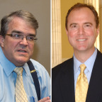 Rep. John Culberson (R-Texas) and Rep. Adam Schiff (D-Calif.). Credit: SpaceNews/Kate Patterson (left), Adam Schiff